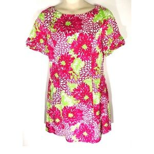 Lilly Pulitzer Jubilee Floral Dress Sz 12